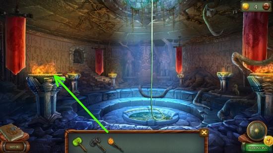 зажигаем все чаши в подземелье в игре наследие 3 дерево силы