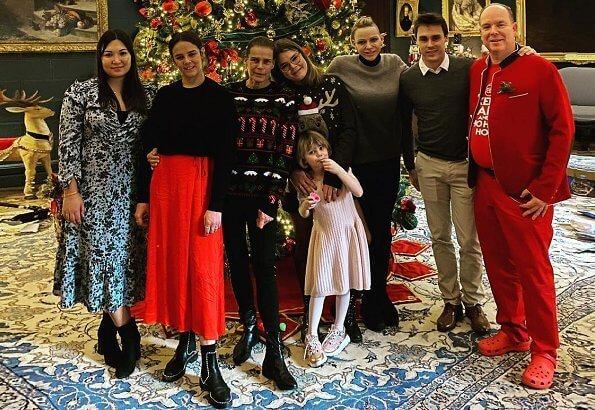 Prince Albert, Princess Charlene, Prince Jacques, Princess Gabriella, Princess Stephanie, Louis, Pauline Ducruet, Marie Chevallier, Camille Gottlieb