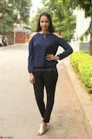 Poojita Super Cute Smile in Blue Top black Trousers at Darsakudu press meet ~ Celebrities Galleries 041.JPG