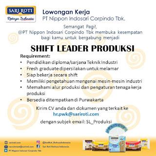 Info Lowongan Kerja Leader Produksi PT. Nippon Indosari Cabang Purwakarta