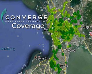 Converge ICT Fiber Coverage Area in Metro Manila and other Cities