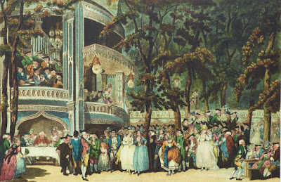 Vauxhall Gardens by Rowlandson from signboard in Vauxhall Gardens