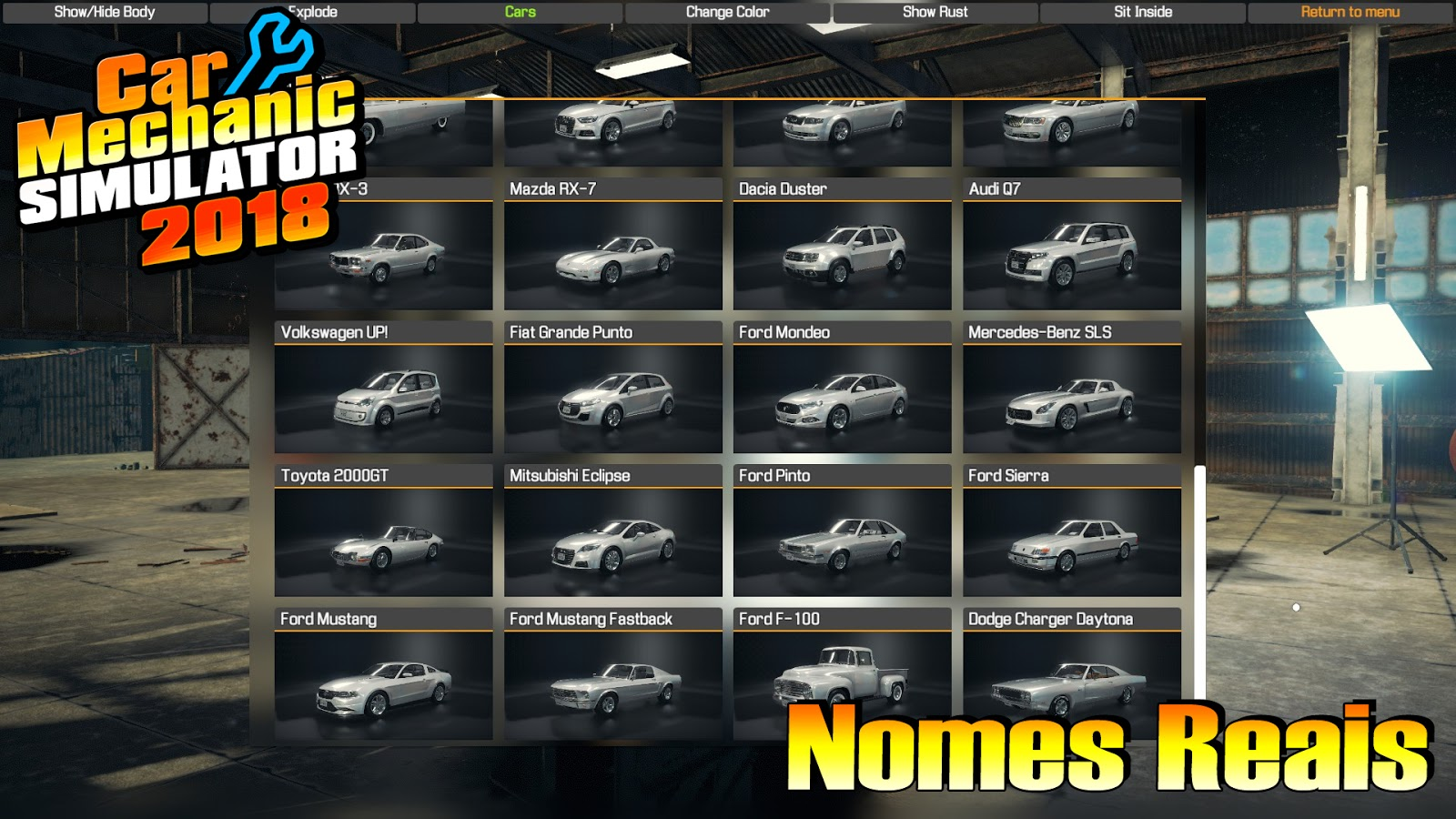 CMS18][Mod] Nomes reais dos carros | My Summer Car Brasil