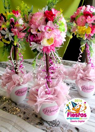 Manualidades e ideas para tus fiestas infantiles centros de flores