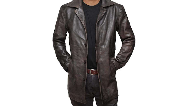 Natural Distressed Leather Jacket