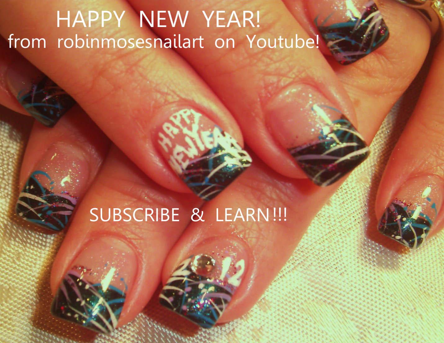 Nail Art Design New York Nails New Year 2012 New Year