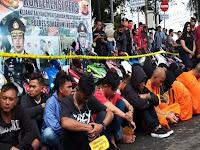Kerap Berbuat Onar, 33 Anggota Geng Motor Sukabumi Ditangkap dan Dijemur Polisi