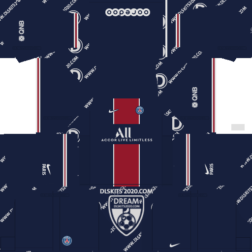 paris saint germain (PSG) Kits 2020-2021 Nike For Dream League Soccer 2019 (Home)