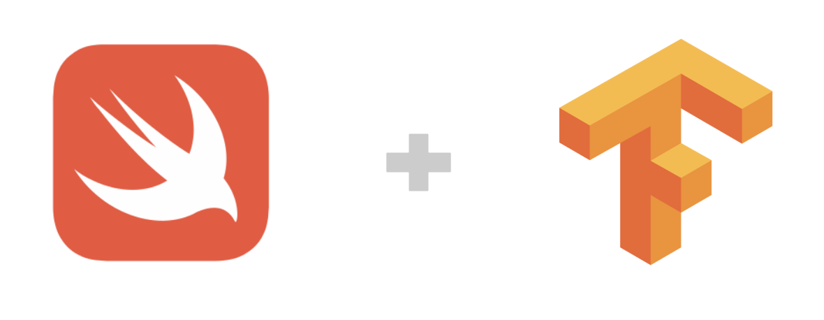 Swift logo and TensorFlow logo