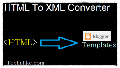 HTML ad code To XML Converter for Blogger Templates