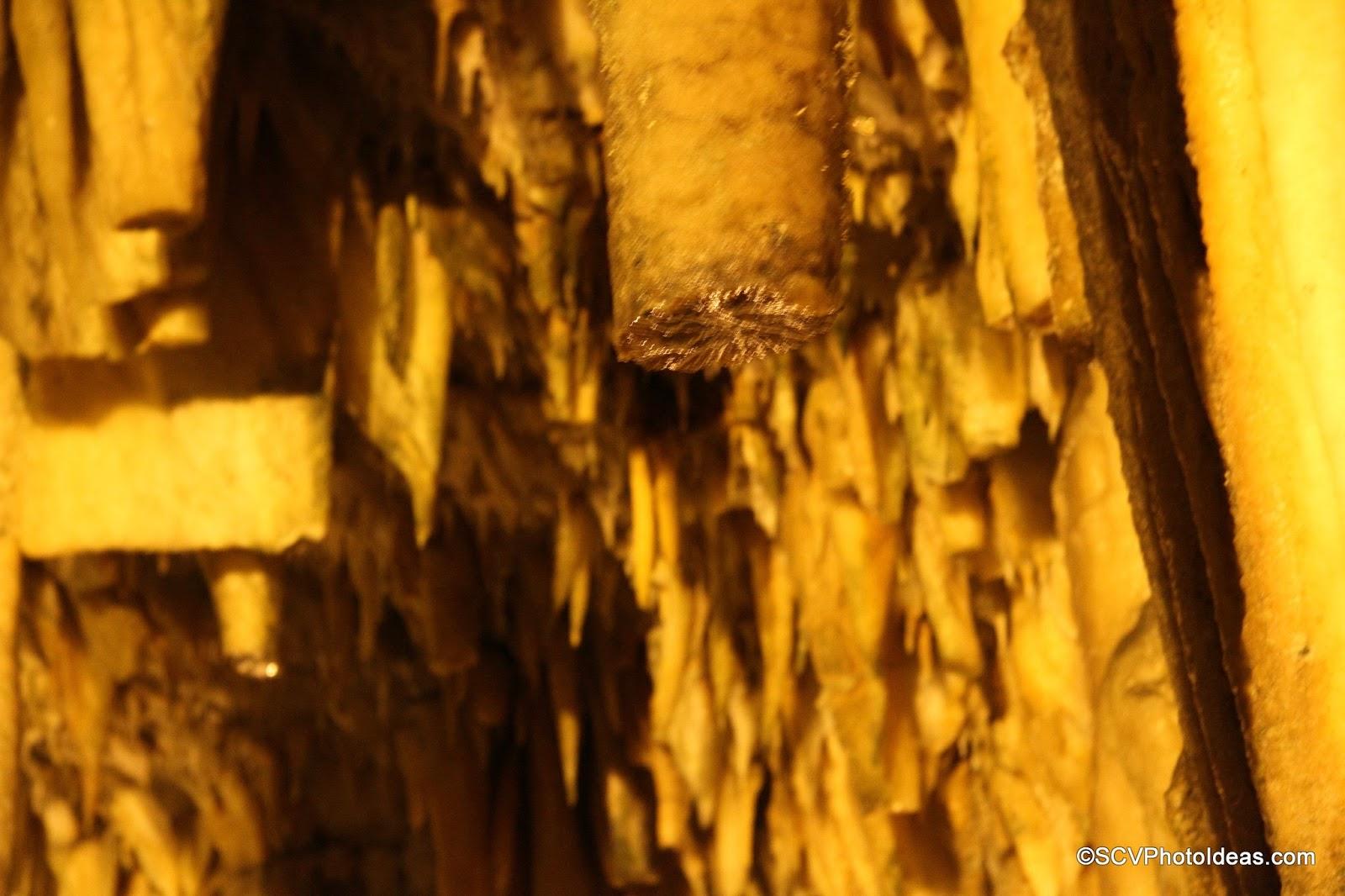 Drogarati Cave stalactite detail