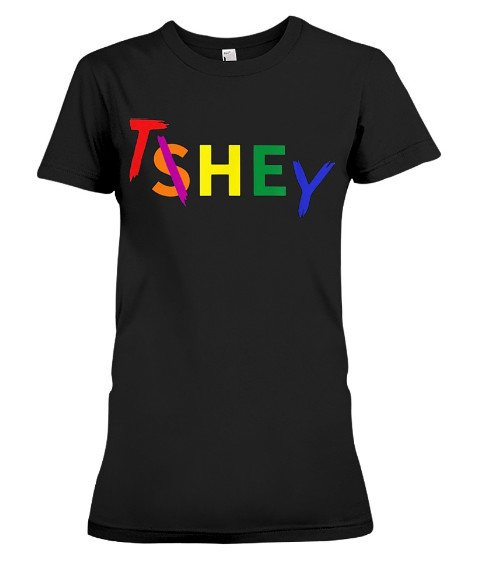 Singular They Pronoun Rainbow Colors TShirt Hoodie Sweatshirt