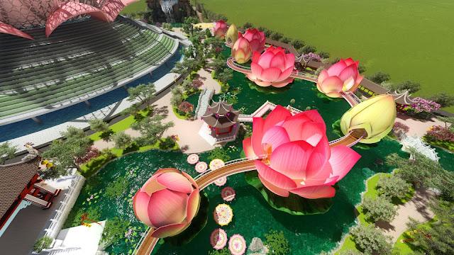 Cầu Hoa Sen - Dự án Liên Hoa Bảo Tháp - Tân Huê Viên