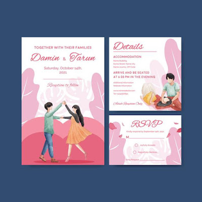 Undangan pernikahan bisa di edit vector