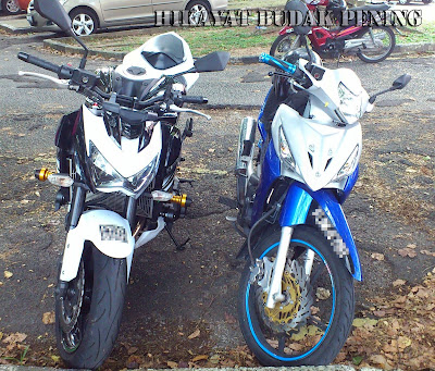 ultimo biru, z800 putih, superbike, naked bike