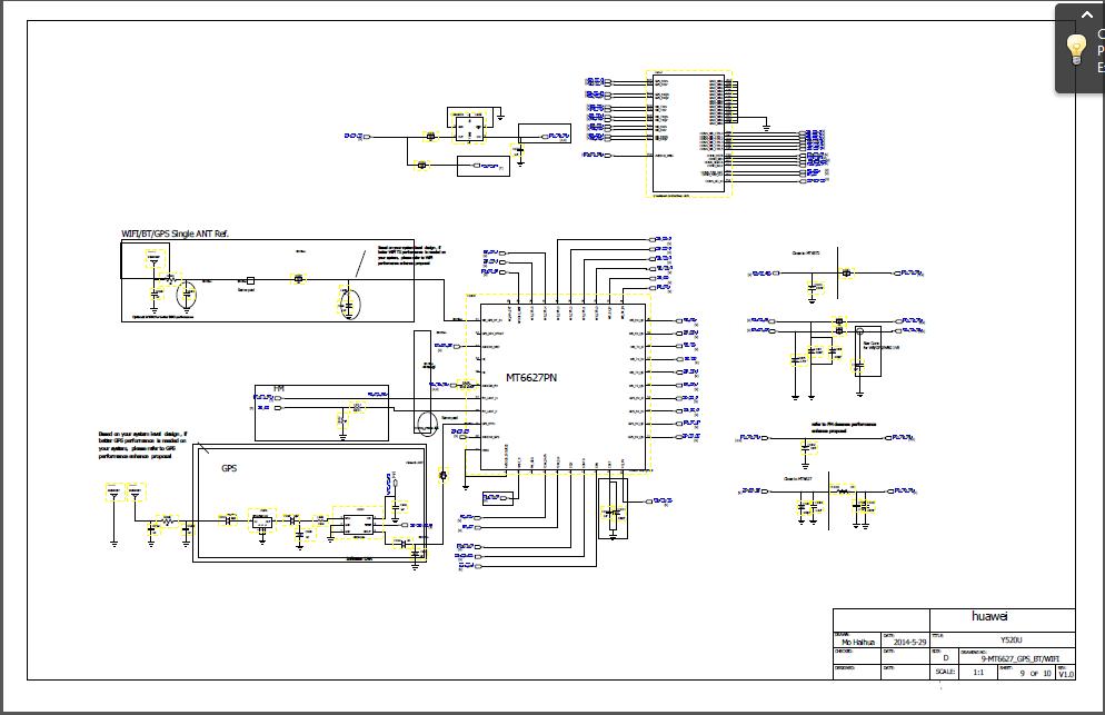 Huawei Y520 U22 Diagrams