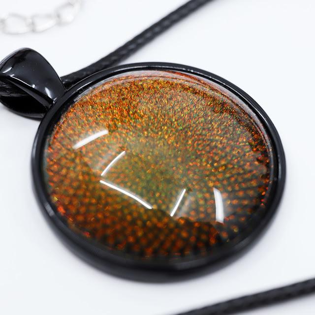 Starlight and Sparkles Oil Slick Pendant
