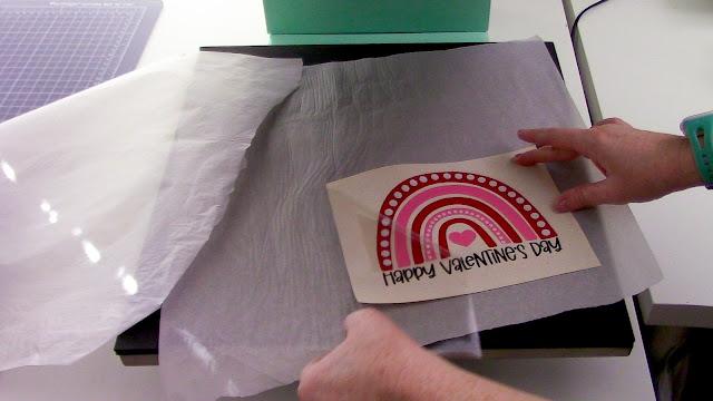 reverse canvas, heat transfer vinyl, htv, sign, glitter htv