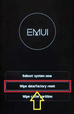 فتح قفل هاتف Android عبر إعادة ضبط المصنع
