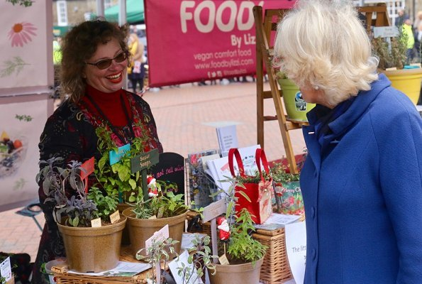 Duchess of Cornwall met with local residents and stallholders including Georges Bakery and Lizzi