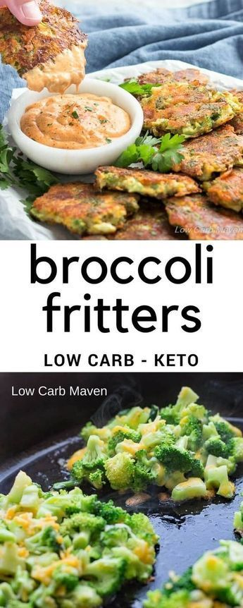 broccoli fritters with cheese