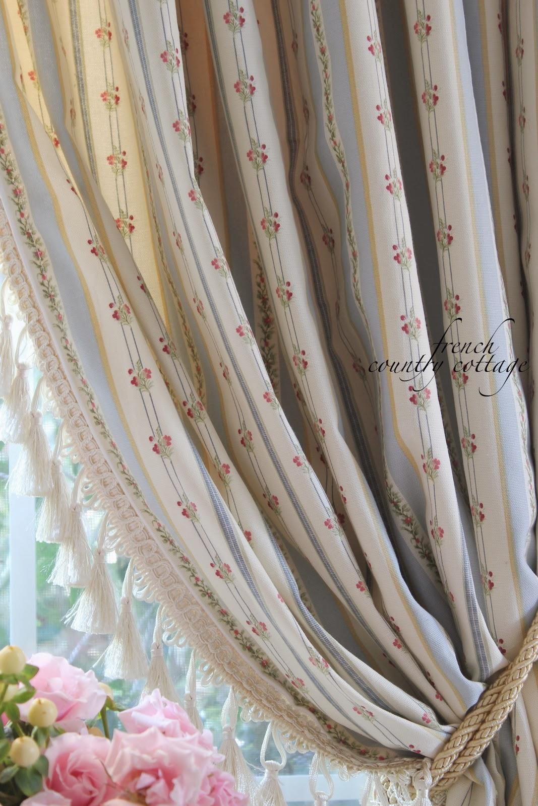 French Ticking Stripe Drapes