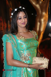 Actress Sanjjanaa Stills in Green Long Dress at Gemini TV Puraskaralu 2016 Event  0012.JPG