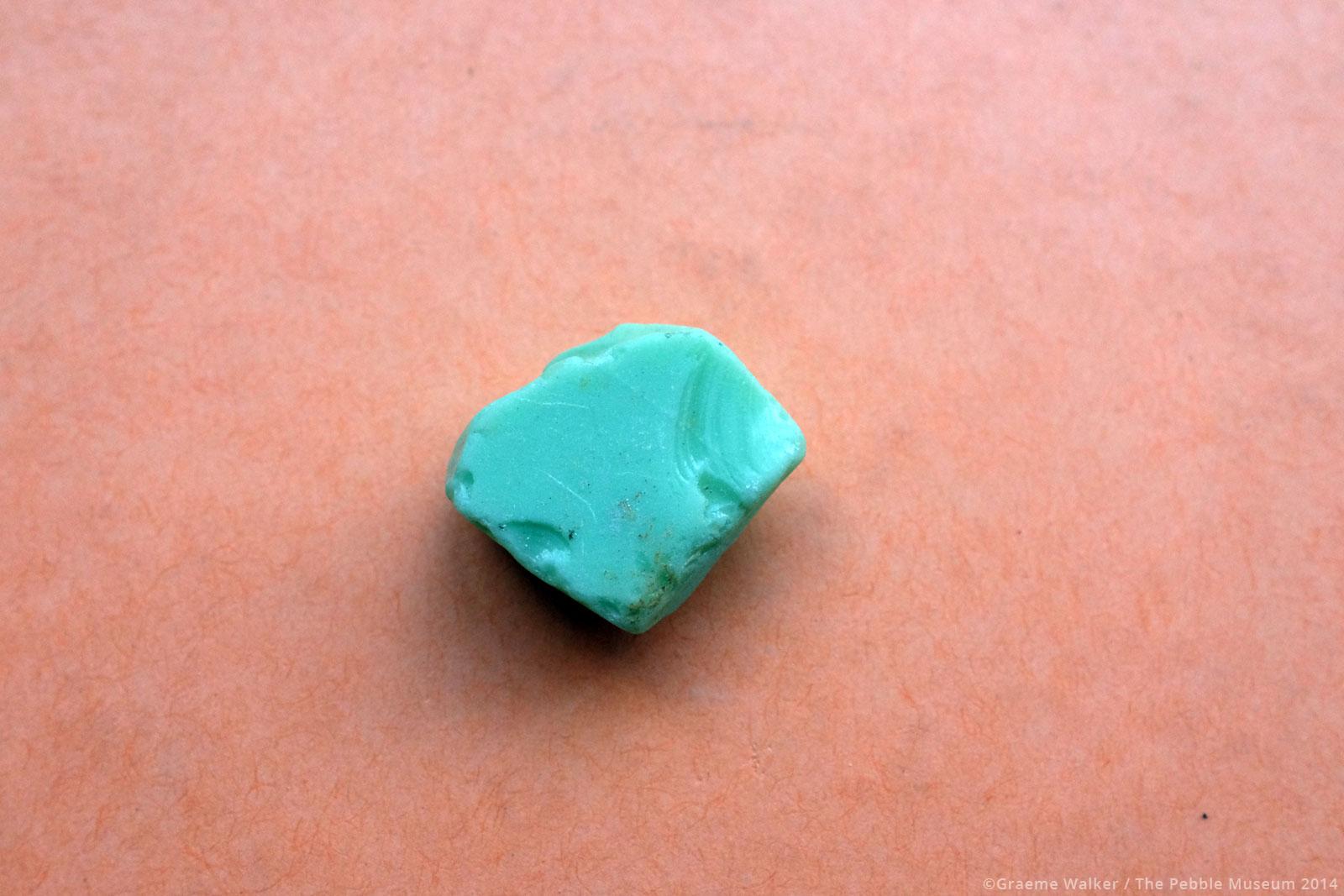 Opaque Blue Sea Glass © Graeme Walker / The Pebble Museum 2019