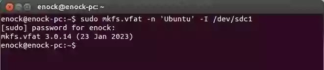 How to format write protected pendrive in Ubuntu