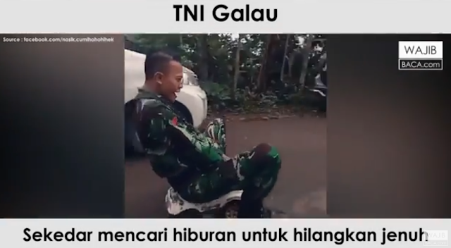 Jenuh Bertugas, TNI Keren ini Bermain Layaknya Anak Kecil