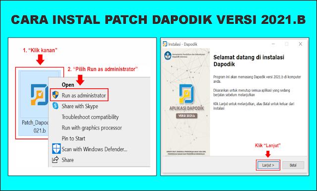 cara instal patch dapodik 2021 b