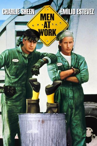 Poster Of Men at Work 1990 720p Hindi BRRip Dual Audio Full Movie