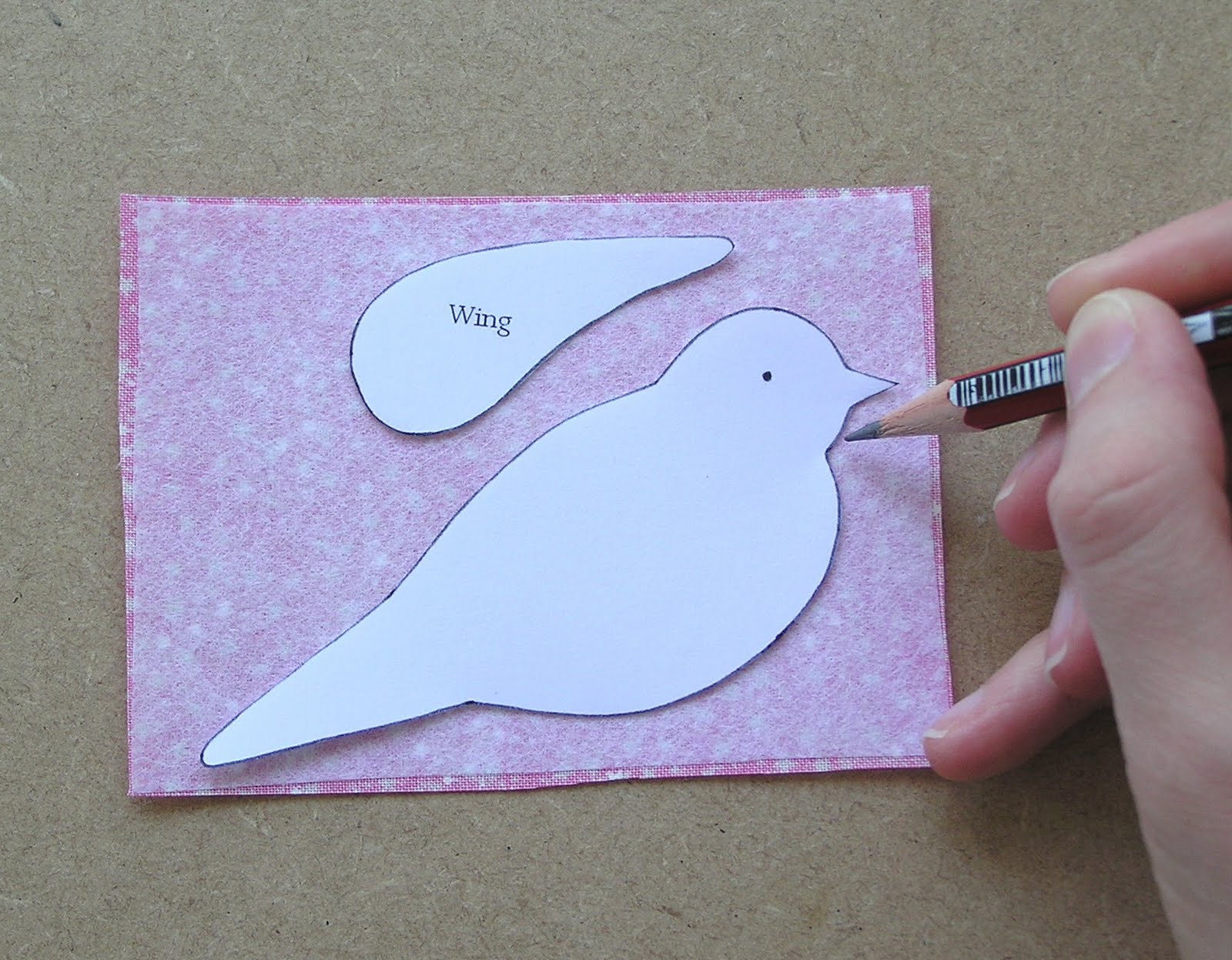 Hazel fisher creations fabric bird card kit tutorial m4hsunfo