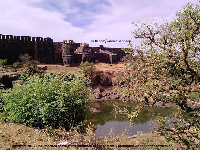 Ganga Sagar Lake in Front of Bale Killa Raigad Fort