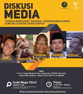 Bersama FPMSI dan GESIT, Warganet Akan Serukan Tolak Propaganda Asing Demi Papua Damai