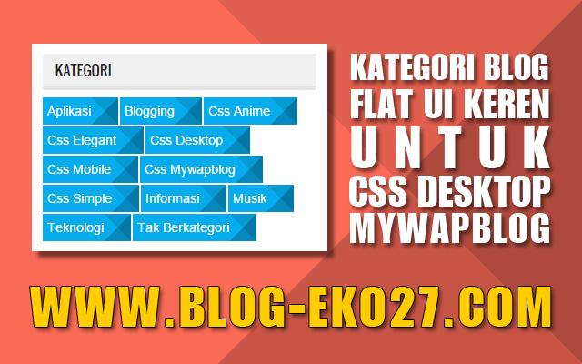 Kategori Flat UI Keren Mywapblog