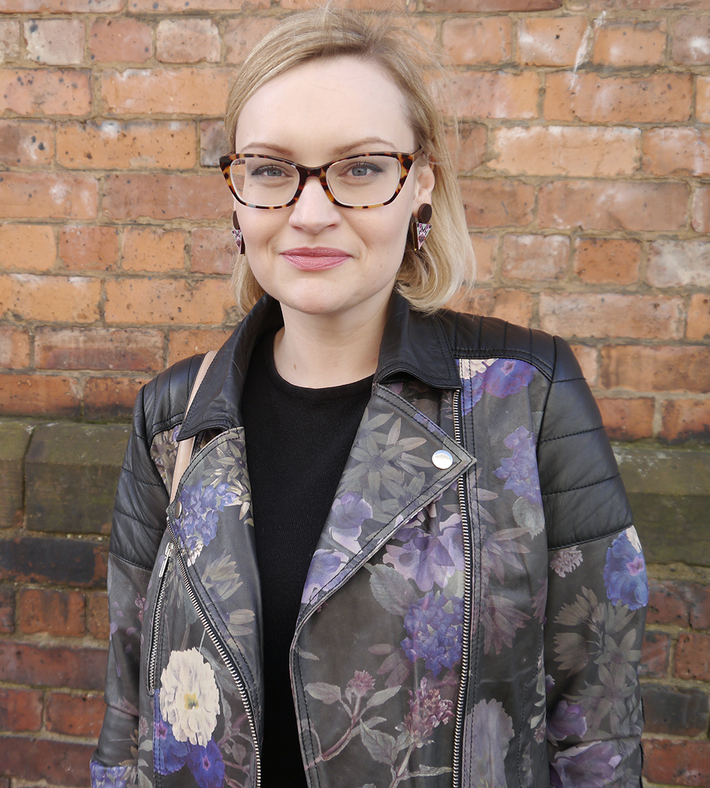 Fearne Cotton very collection, painted leather jacket, how to style a leather jacket, cool girl style inspiration, how to dress like a Cool Girl, Wardrobe Conversations blog, easy French girl style