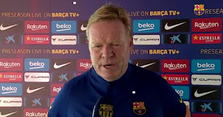 Barcelona boss Koeman reveals his relationship with Messi is good after exit saga