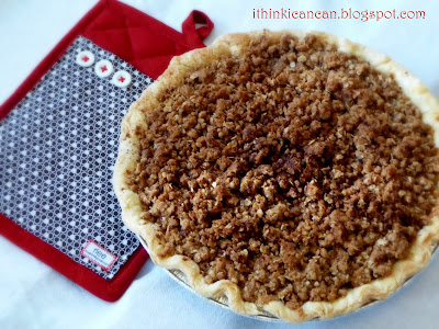 {I Think I Can}: Easy Apple Pie with Streusel Topping