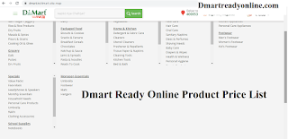 Latest Dmart Ready Online Product List with Price