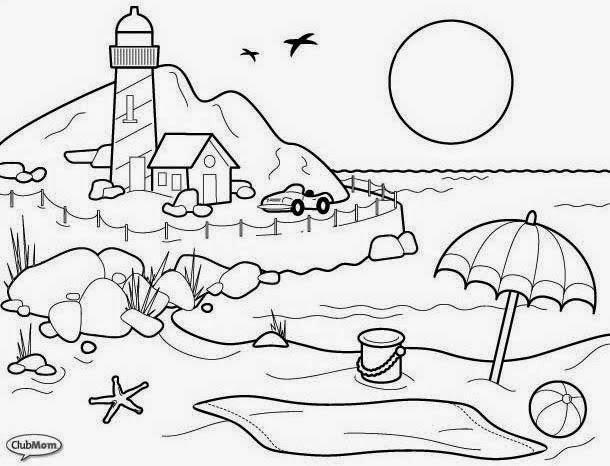 Dibujos Infantiles Para Colorear Gratis: Dibujos Para Colorear Paisajes Infantiles