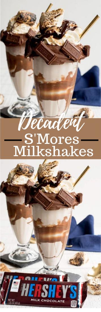 DECADENT S'MORES MILKSHAKES #drink