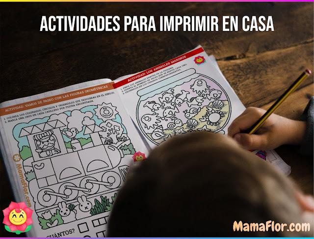 Aprendo en CASA: 7 tareas y actividades para dibujar, colorear GRATIS