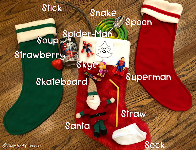 Fun alphabet/phonics activity for the month of December- The Letter Stocking