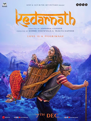 Kedarnath, Kedarnath Movie, Bollywood, Bollywood Movie Kedarnath, Hindi Movie Kedarnath, Poster Filem Kedarnath, Pelakon Utama Filem Hindi Kedarnath, Hero and Heroin Kedarnath Movie, Sushant Singh Rajput, Sara Ali Khan, Review By Miss Banu, Blog Miss Banu Story,