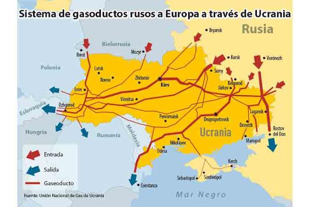 Ucrania amenaza con acaparar gas ruso enviado por sus gasoductos a UE