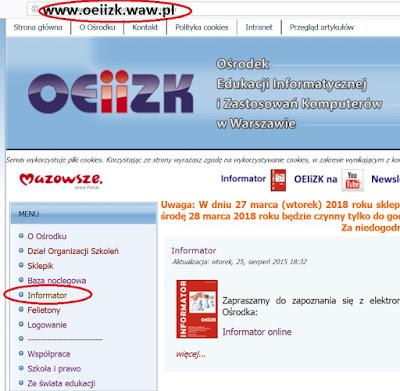 http://www.oeiizk.waw.pl/joomla/index.php/informator