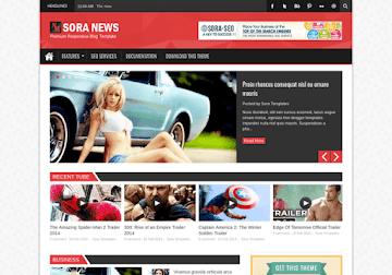Sora News Responsive Blogger Template