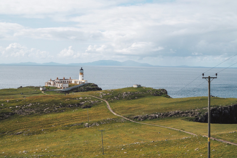 Neist Point Trail sur l'île de Skye en Ecosse