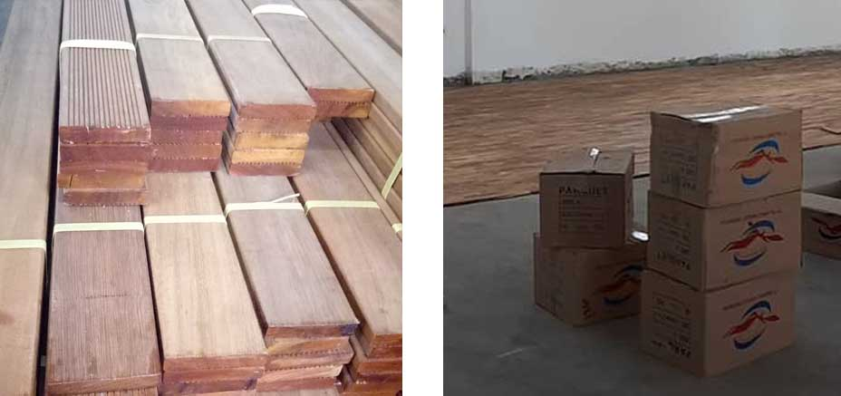 packaging Lantai Kayu
